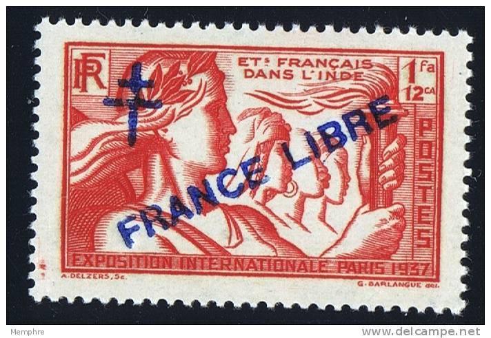 INDE Surcharge »Croix De Lorraine Et FRANCE LIBRE»  Maury  222 II * - Nuovi