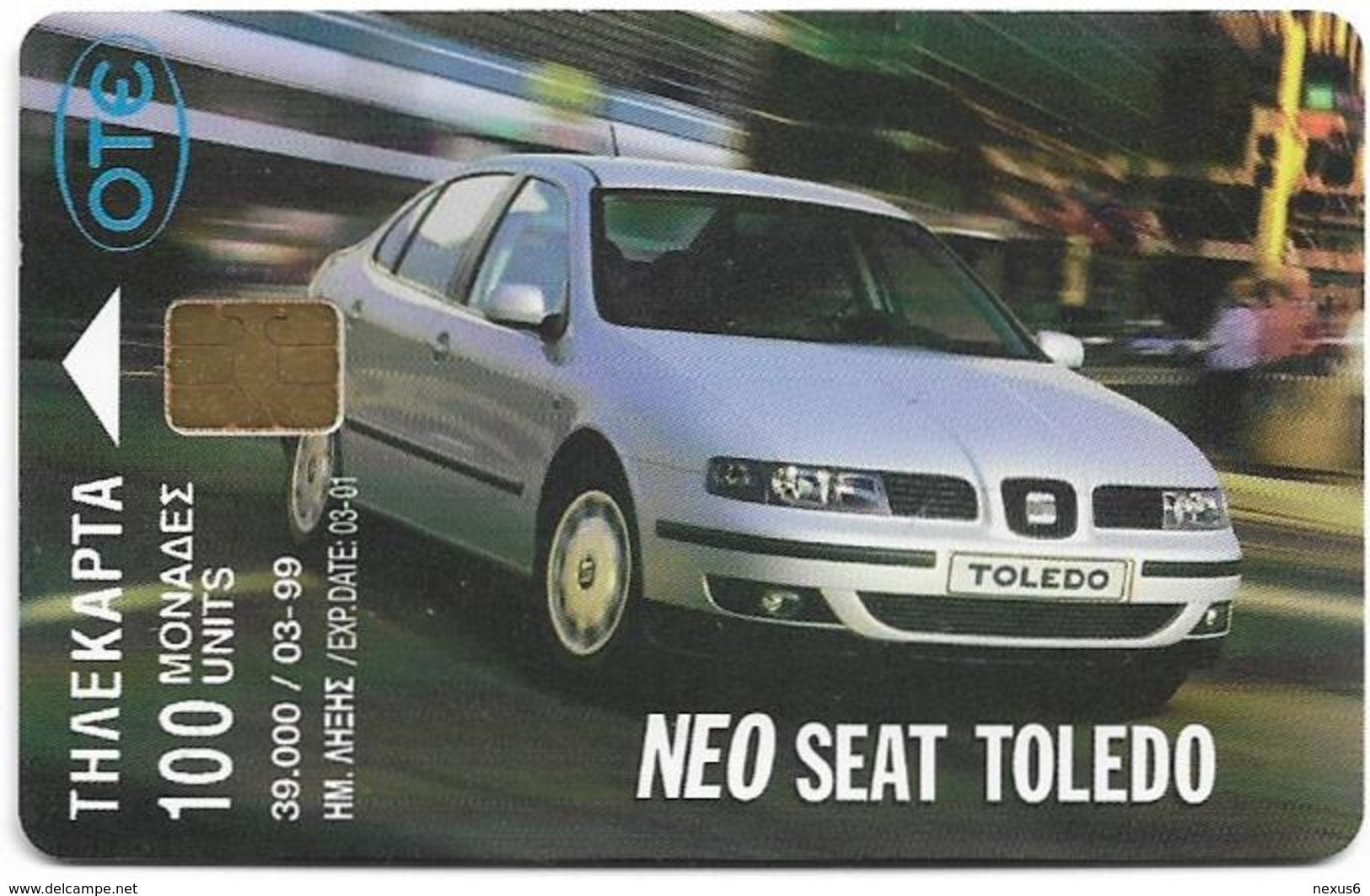 Greece - Car Seat Toledo 5 - X0710 - 03.1999 - 39.000ex, Used - Greece