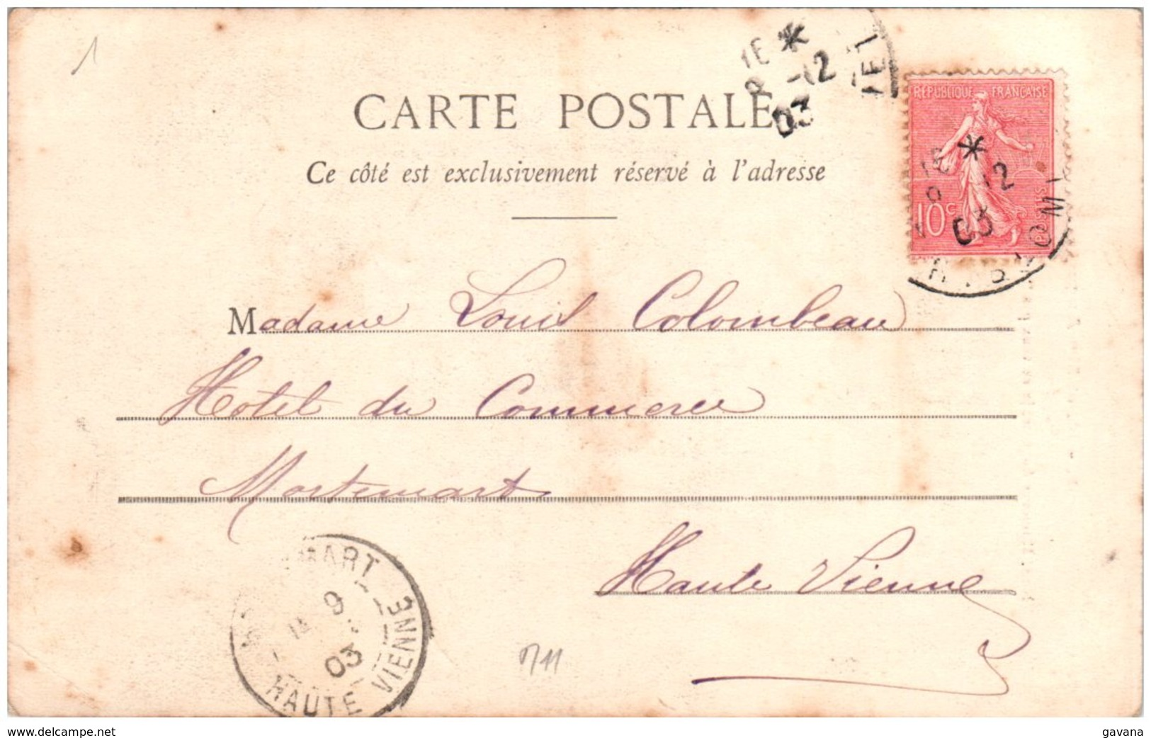 BERGERET - M. Eet Mme Auguste N° 1 - Bergeret