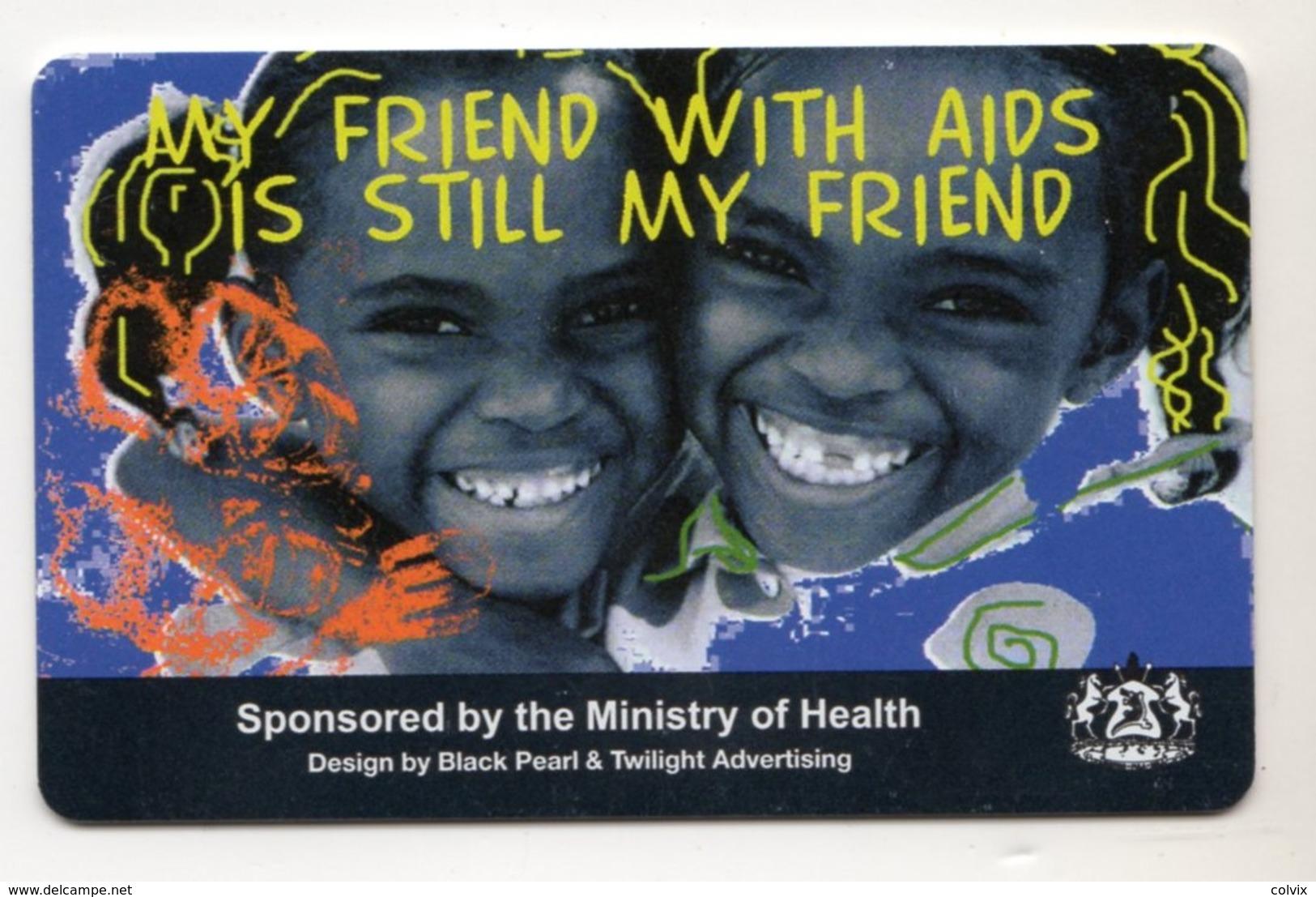 LESOTHO REF MV CARDS LES-05 AIDS 1 - Lesotho
