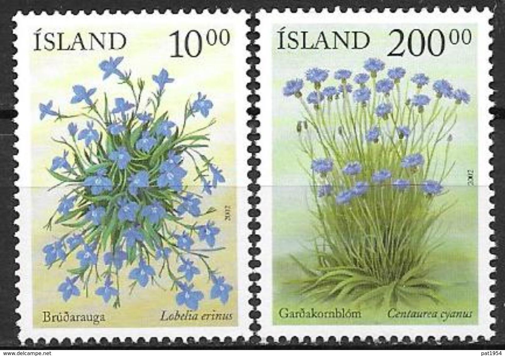 Islande 2002 N°945/946 Neufs** Fleurs D'été - 1944-... Republik