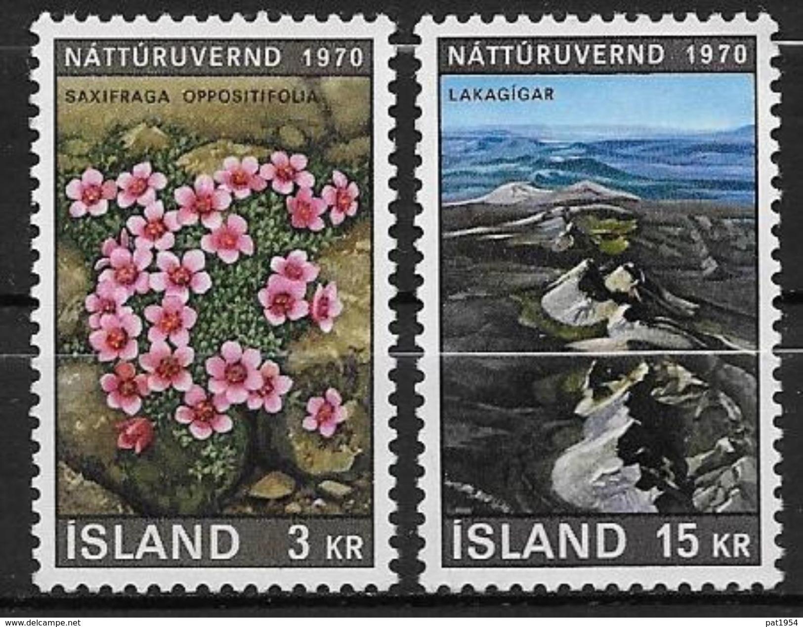 Islande 1970 N° 400/401  Neufs ** MNH Conservation De La Nature - Ungebraucht