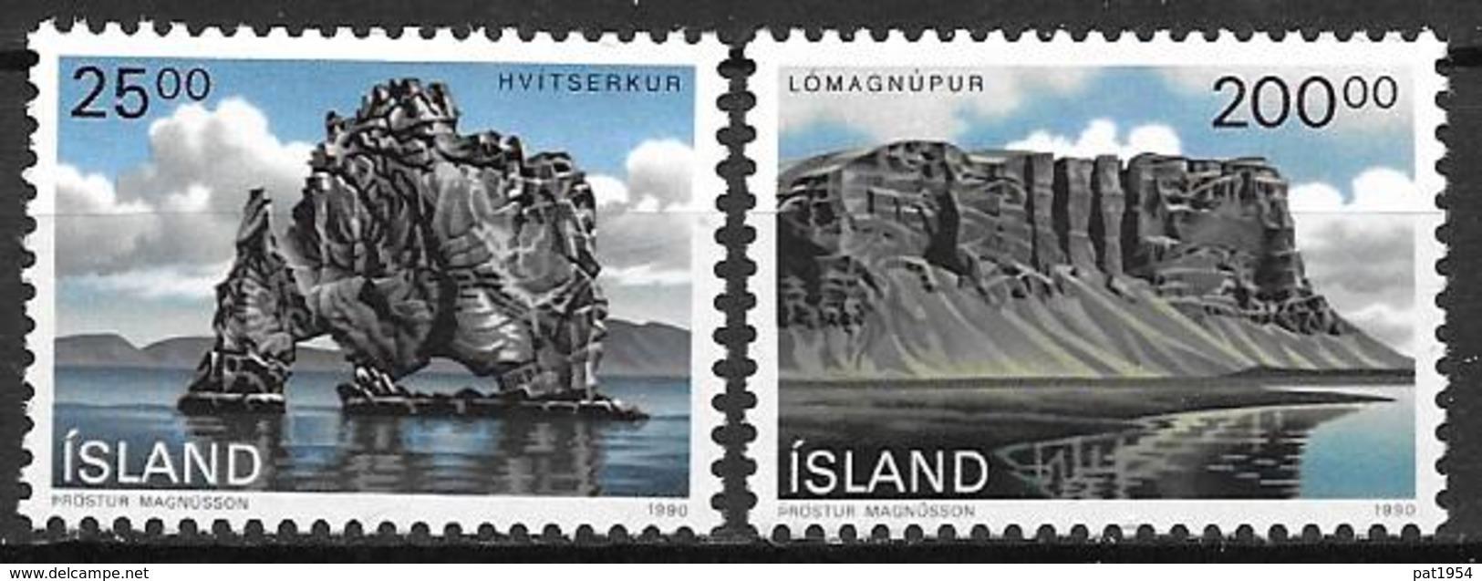 Islande 1990 N° 684/685 Neufs Paysages Côtiers - 1944-... Republik