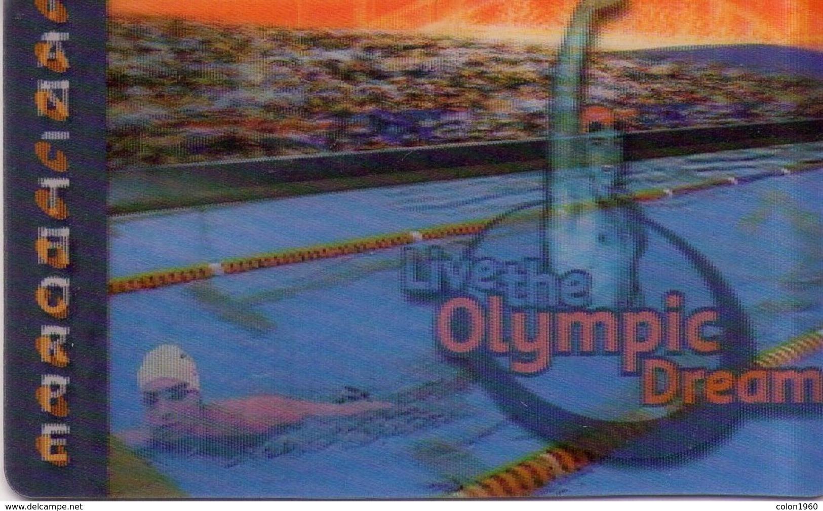 TARJETA TELEFONICA DE AUSTRALIA (PREPAGO). (IMAGEN MOVIBLE - 3D). Living The Olympic Dream - Ian Thorpe. 9900043PA (012) - Jeux Olympiques