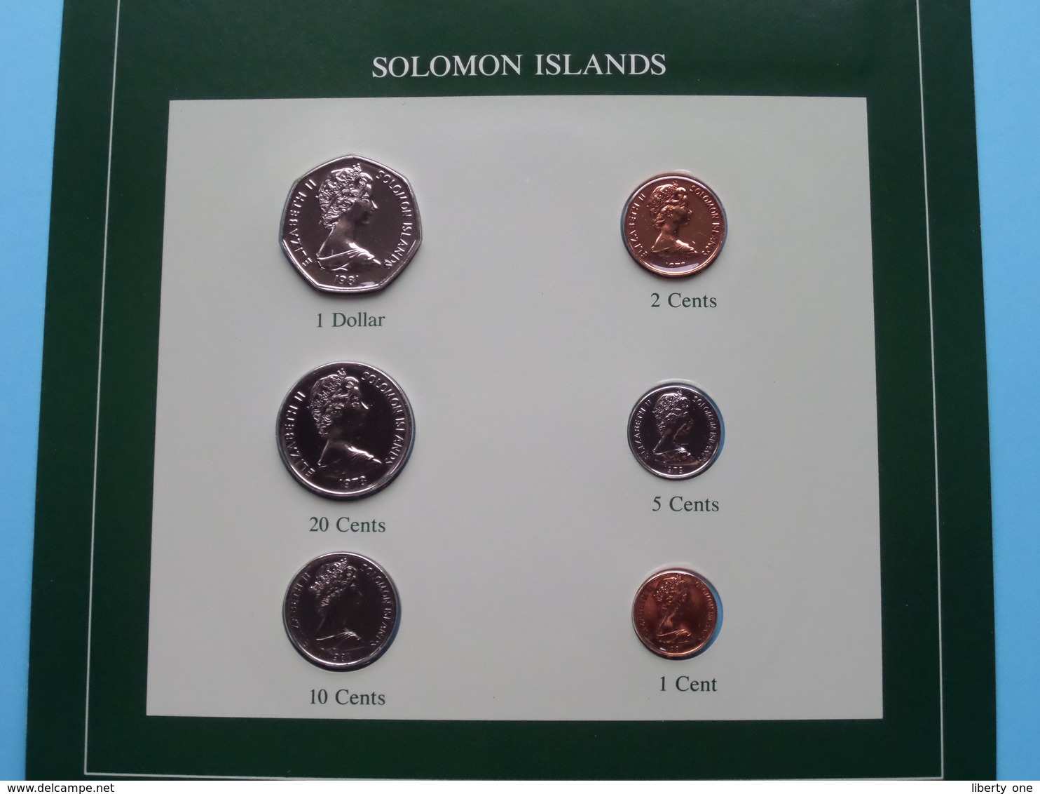 SOLOMON ISLANDS ( From The Serie Coin Sets Of All Nations ) Card 20,5 X 29,5 Cm. ) + Stamp '84 ! - Salomonen