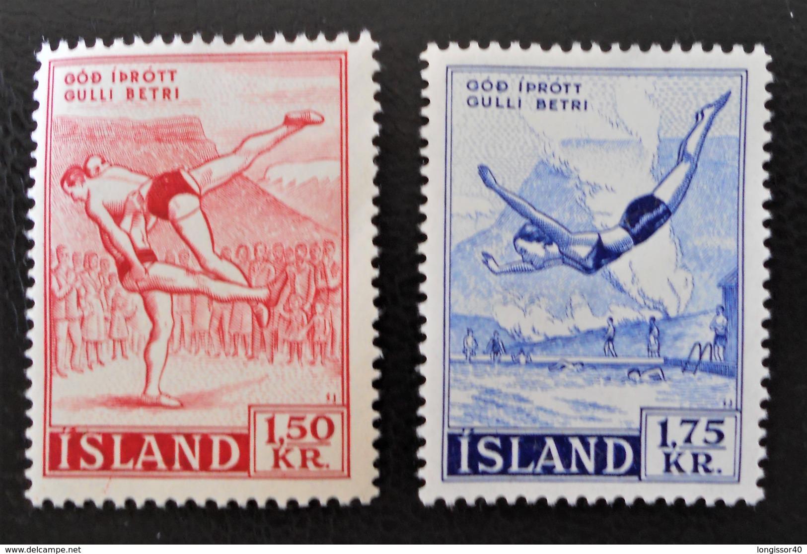SPORTS 1957 - NEUFS ** - YT 272/73 - MI 314/15 - Ungebraucht