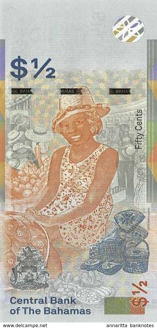 BAHAMAS 0.5 DOLLAR 2018 (2019) P-NEW UNC [BS348a] - Bahamas