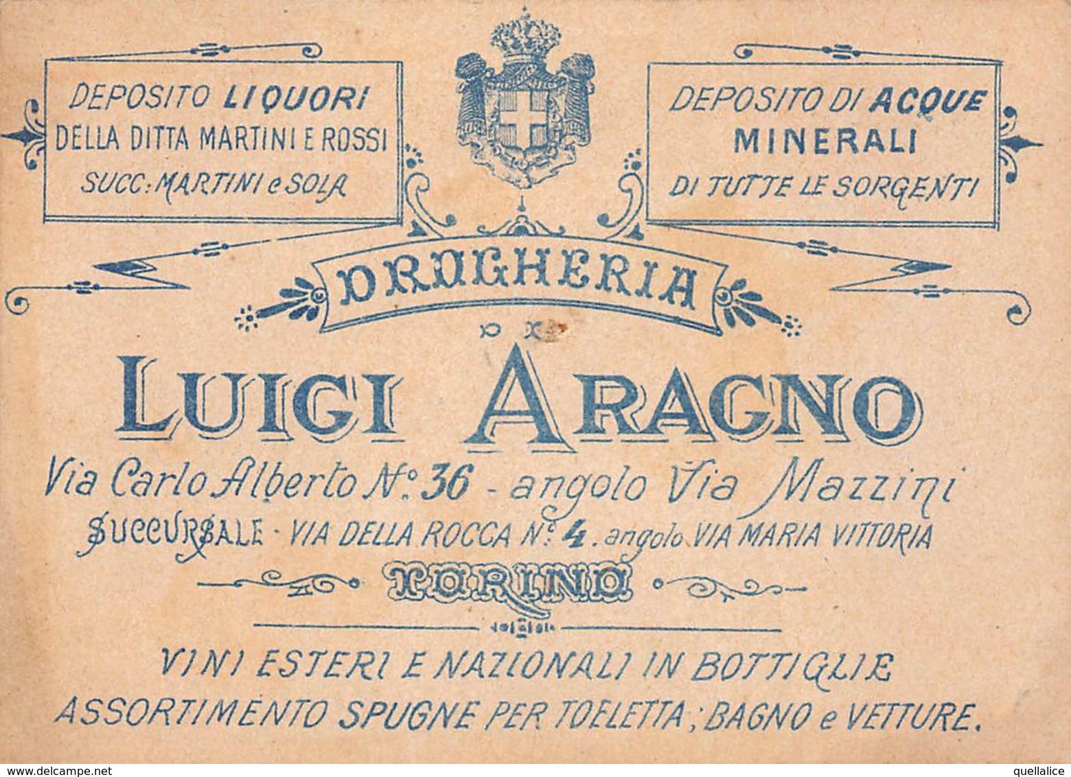 """0945 """"TORINO - LUIGI ARAGNO - DROGHERIA - DEPOSITO LIQUORI MARTINI E ROSSI""""  ANIMATA, PANNOCCHIA. CROMOLITOGRAFIA - Au Bon Marché"""