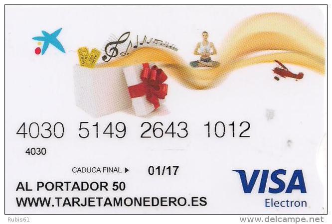 TARJETA MONEDERO VISA LA CAIXA 50EUROS - Tarjetas Telefónicas