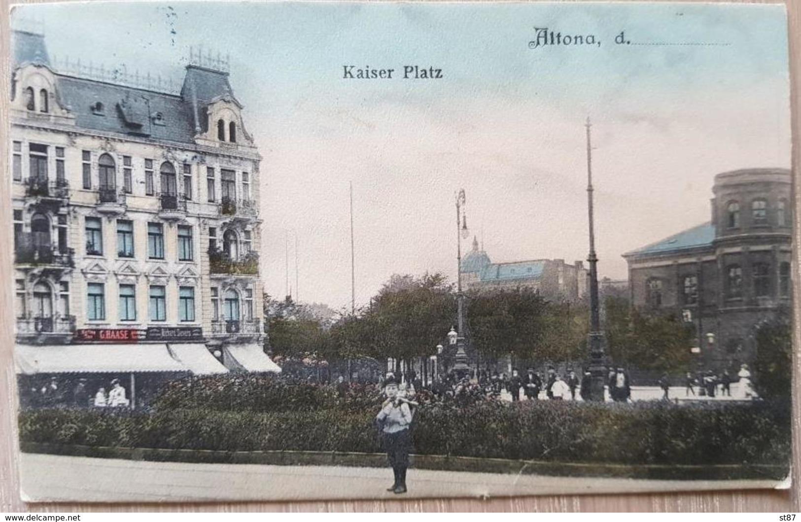 Germany Hamburg Altona 1909 Kaiser Platz - Unclassified