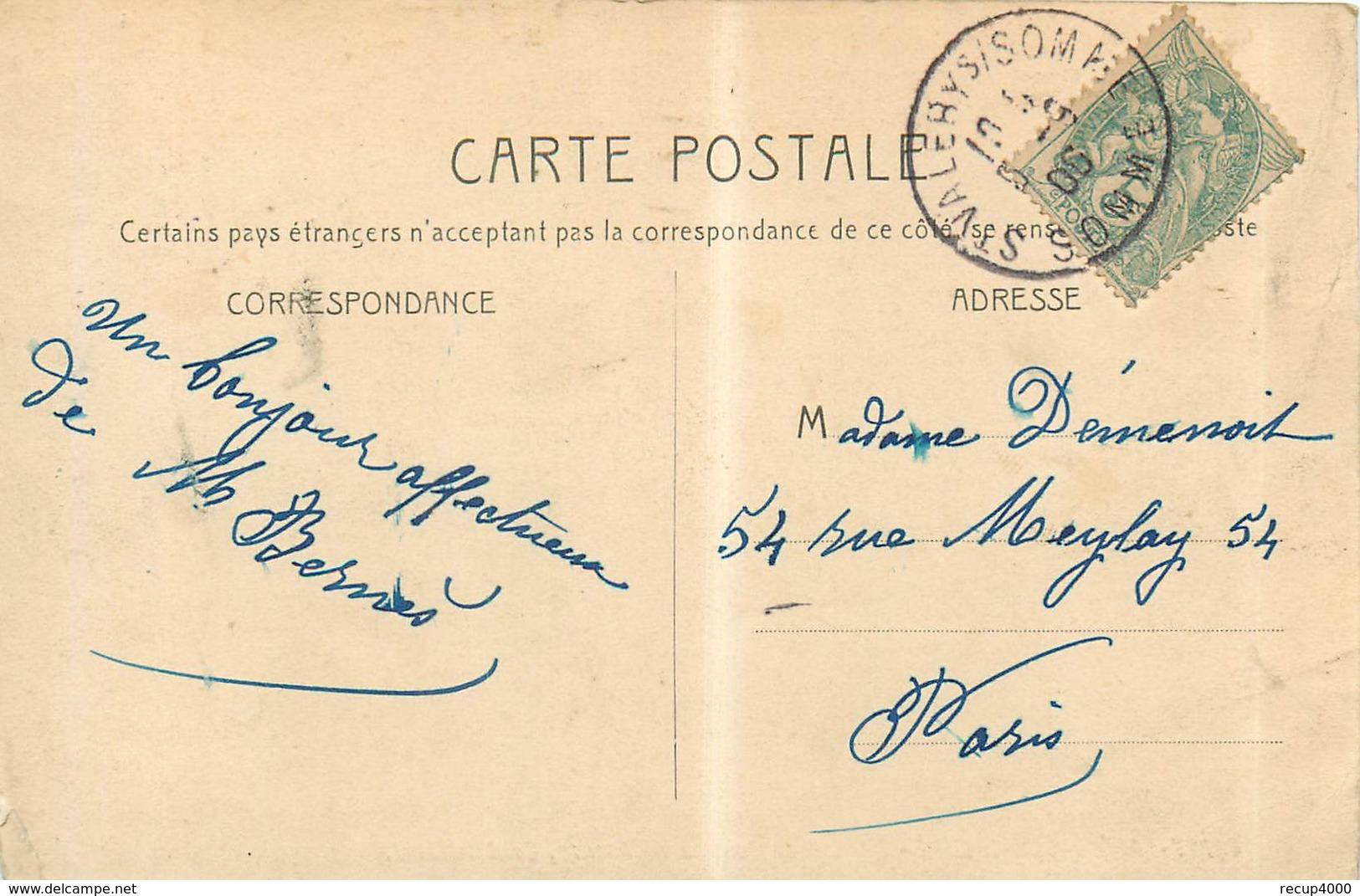 80 SAINT VALERY SUR SOMME Hôtel De La Colonne De Bronze   2scans - Saint Valery Sur Somme