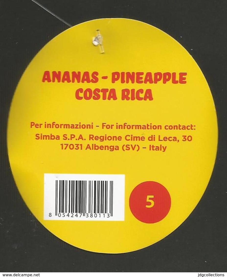 # PINEAPPLE SIMBA SIZE 5 Fruit Tag Balise Etiqueta Anhanger Ananas Pina Costa Rica - Fruits & Vegetables