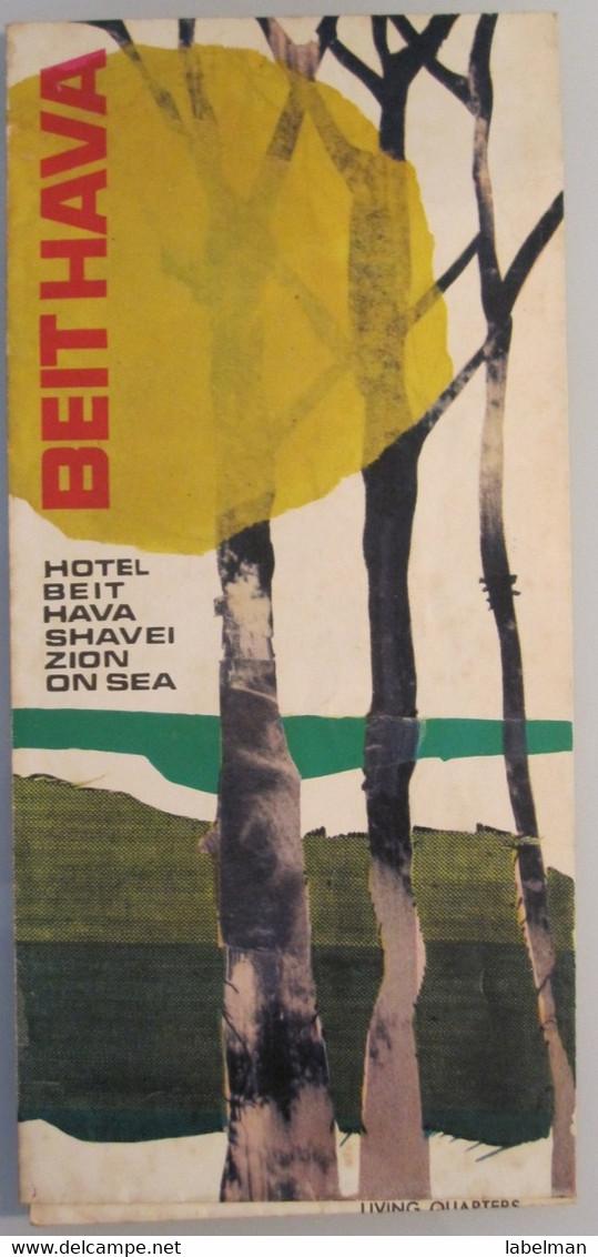 MOTEL HOTEL REST HOUSE PENSION INN BEIT HAVA SHEVEI ZION MOSHAV NAHARIYA ORIGINAL VINTAGE BROCHURE ADVERTISING ISRAEL - Hotel Labels