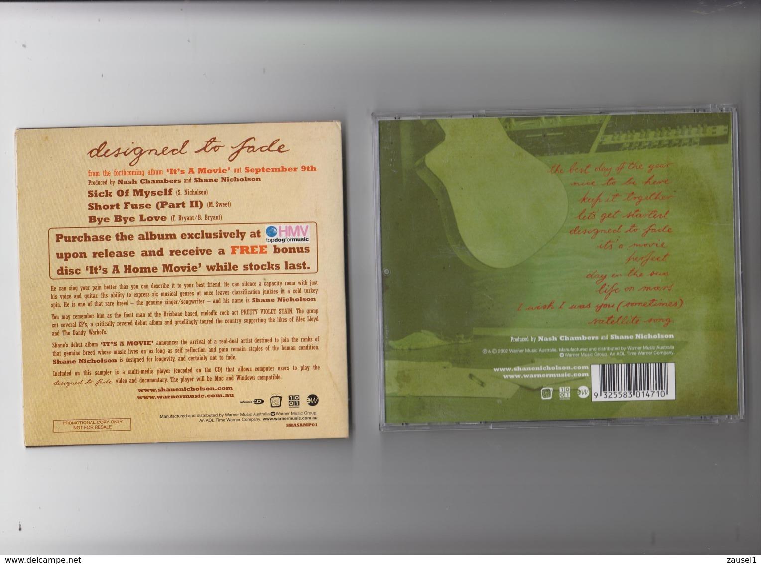 Shane Nicholson - It's A Movie + Designed To Fade - 2 Original CDs - Spezial - Country & Folk