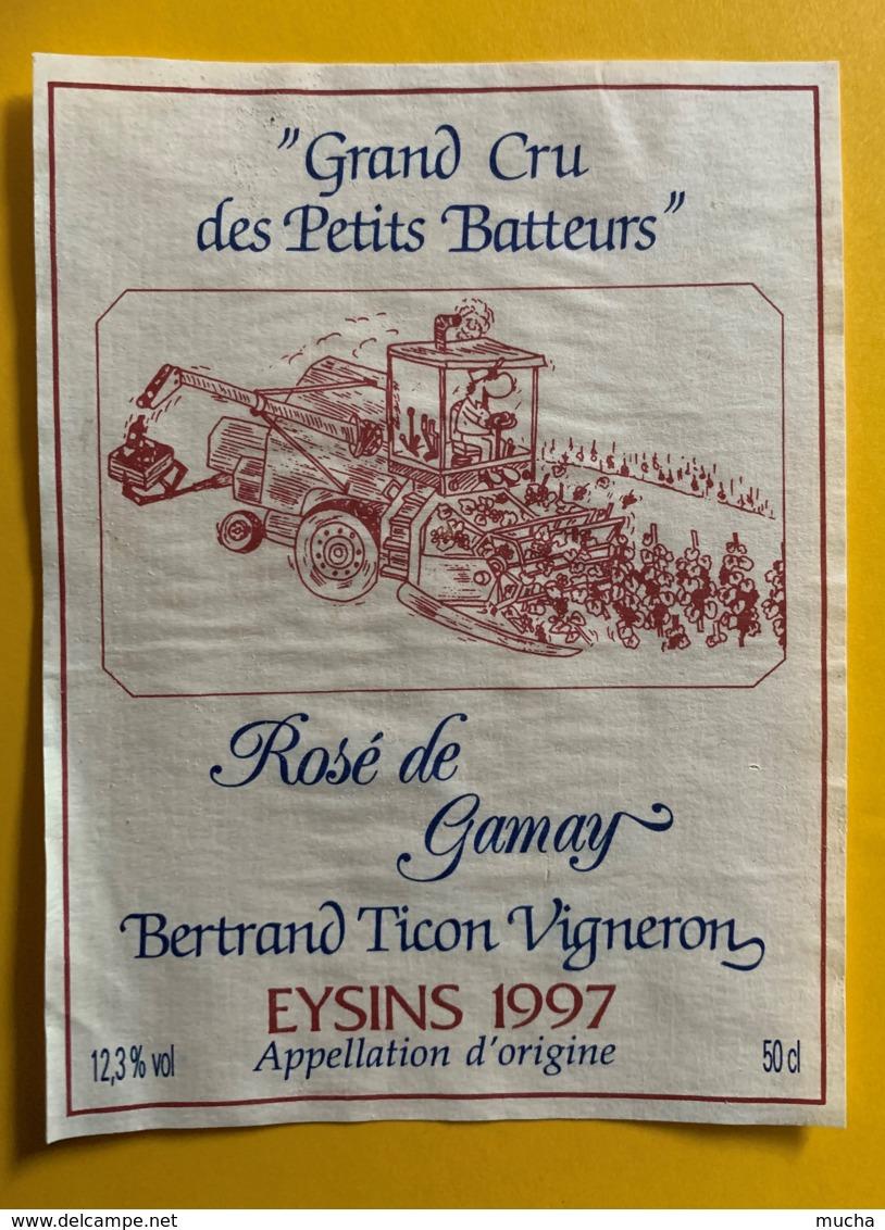 10111 - Grand Cru Des Petits Batteurs Rosé De Gamay 1997 Bertrand Ticon Eysins Suisse - Etiquettes