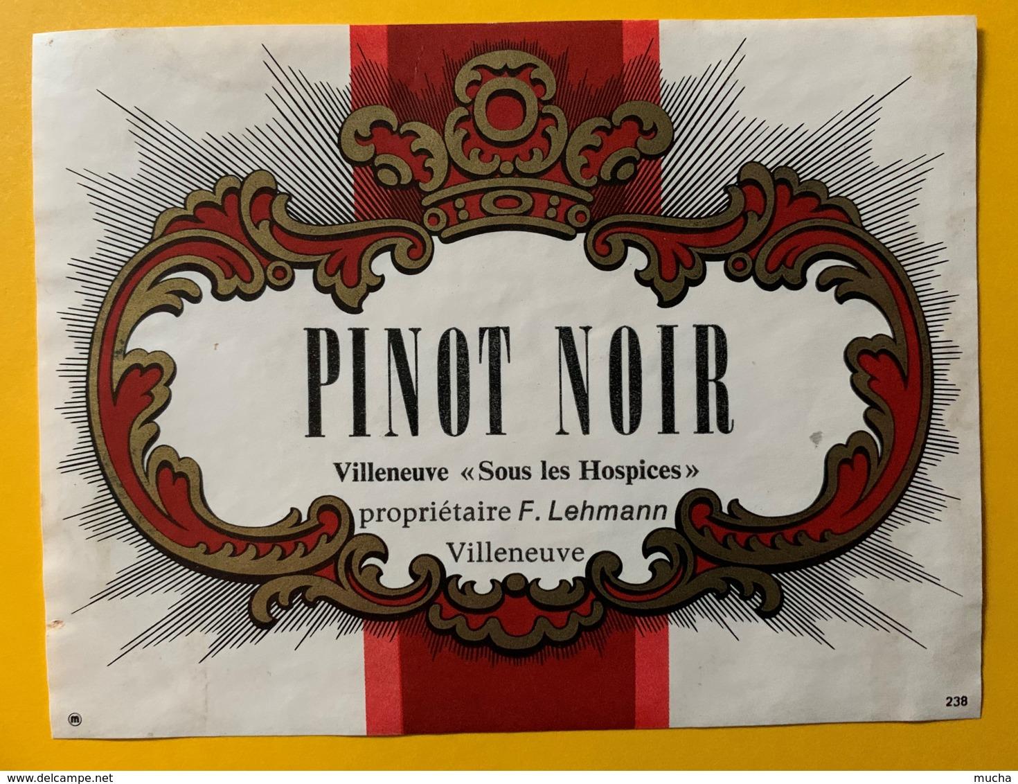 10124 - Villeneuve Pinot Noir Sous Les Hospices Suisse - Etiquettes