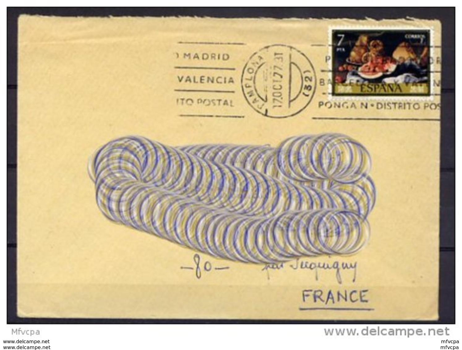 Am3225 YvT 2011 JdT 1976 Nature Morte 7 P./Lettre Pour La France 1977 - 1971-80 Lettres