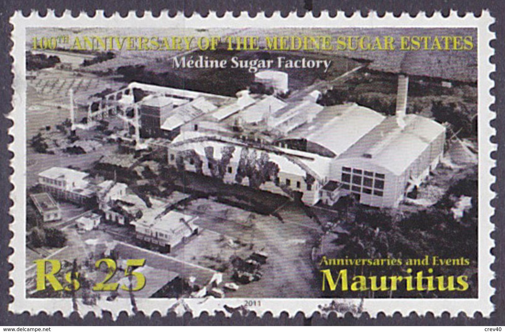Timbre Oblitéré N° 1133(Yvert) Maurice 2011 - Médine Sugar Factory, Voir Description - Maurice (1968-...)