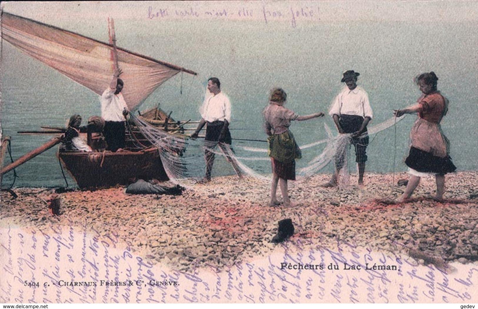Pêcheurs Du Léman, Barque Et Filets De Pêche (Charnaux 5404 C) - VD Vaud