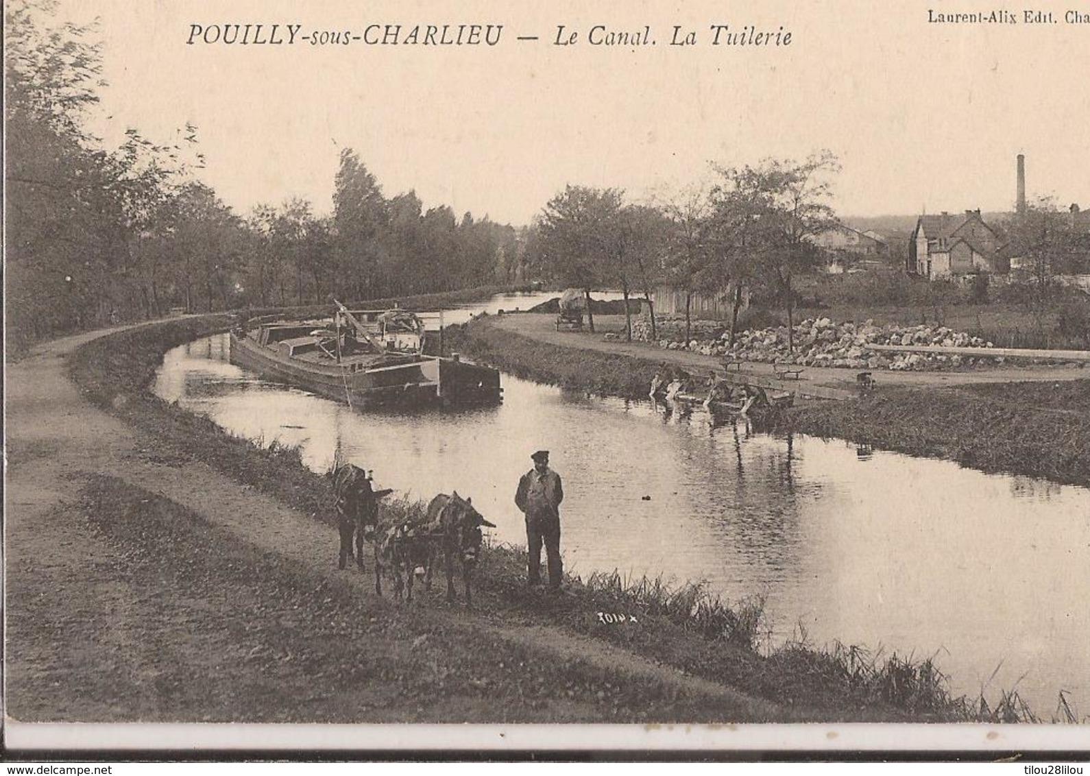 CPA REGIONS Loire  42000 PENICHE SUR LE CANAL DE ROANNE DIGOIN POUILLY/S CHARLIEU  BON ETAT - Otros Municipios