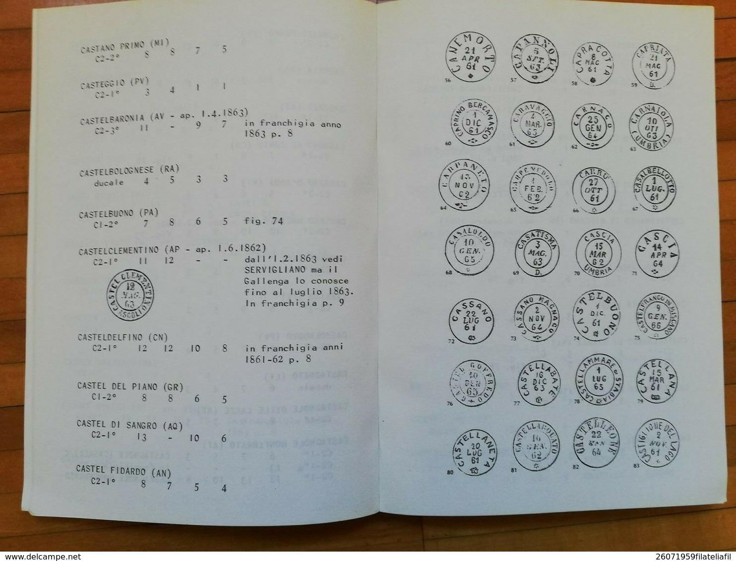 CATALOGO DEGLI ANNULLAMENTI ITALIANI 1860-1866 DI CATTANI ADRIANO ED. 1977 - Filatelia E Storia Postale