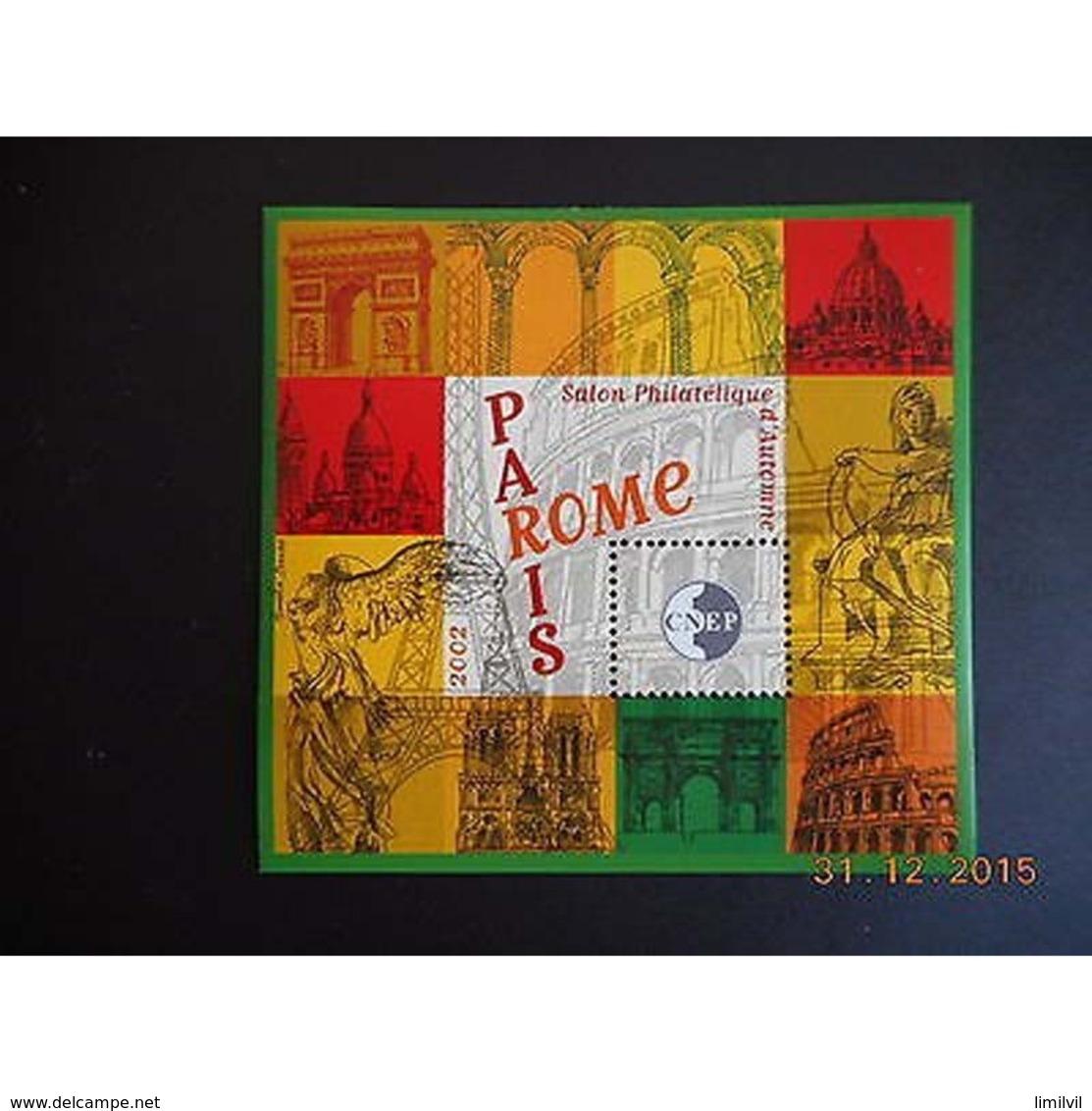 Timbre Bloc CNEP N° 37 Neuf ** Luxe - PARIS-ROME 2002 - CNEP