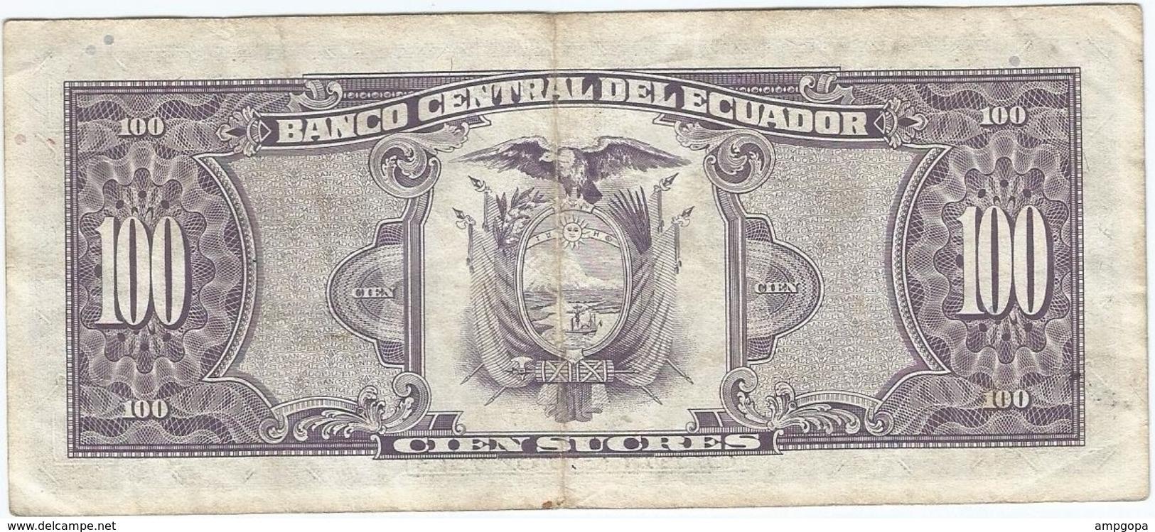 Ecuador 100 Sucres 21-2-1994 Pk 123 A.c Ref 1478 - Ecuador