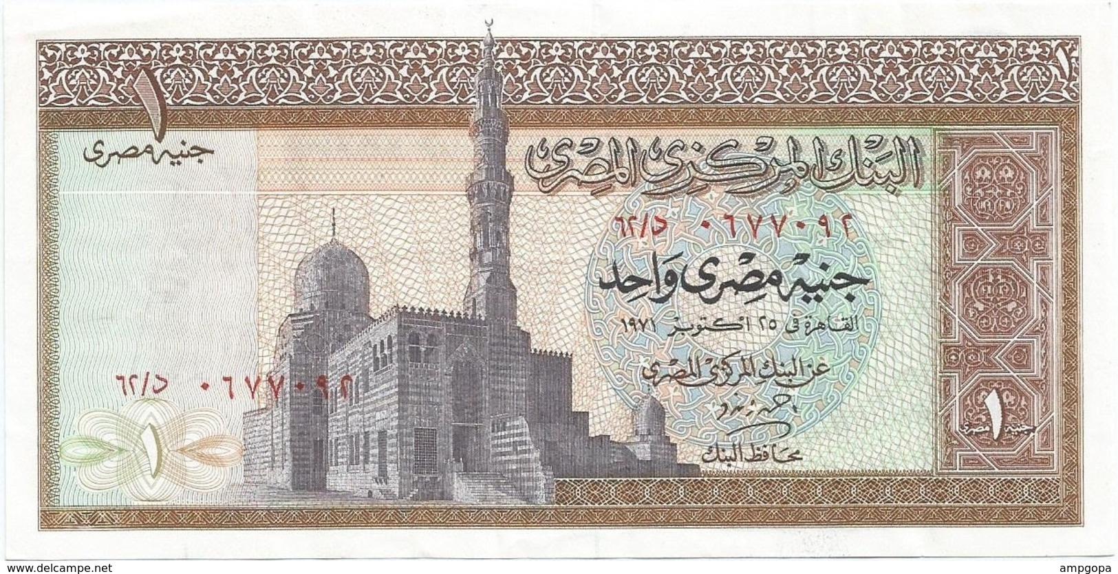 Egipto - Egypt 1 Pound 1971 Pk 44 A.2 Ref 1340 - Egipto