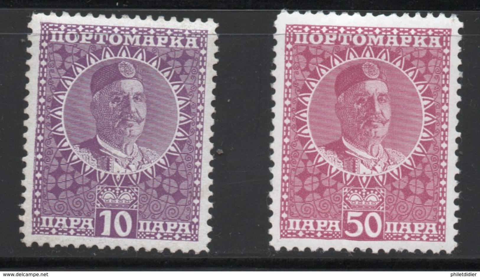 Royaume MONTENEGRO Timbres Taxes N° 25 Et 27 - Montenegro