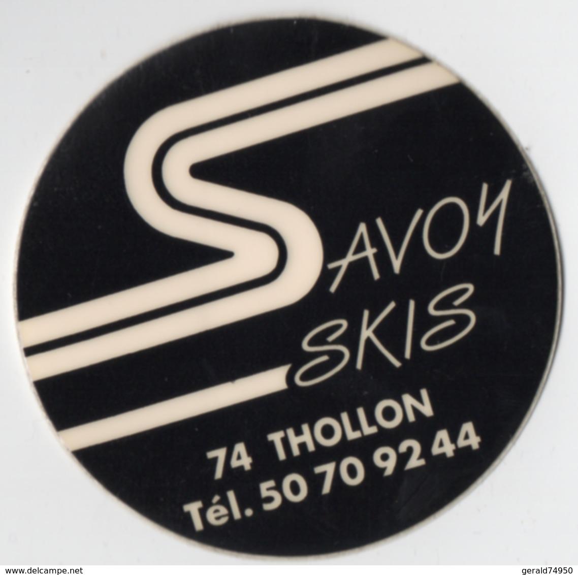Autocollant Savoy Skis Thollon (74) - Autocollants