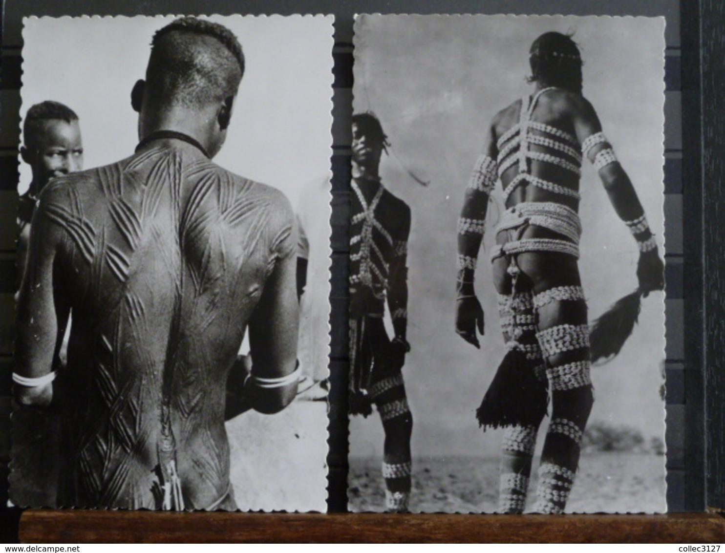 D2 - A.O.F Danse Bobo Et Tatouages - Scarifications - Lot De 2 CPA - Süd-, Ost-, Westafrika