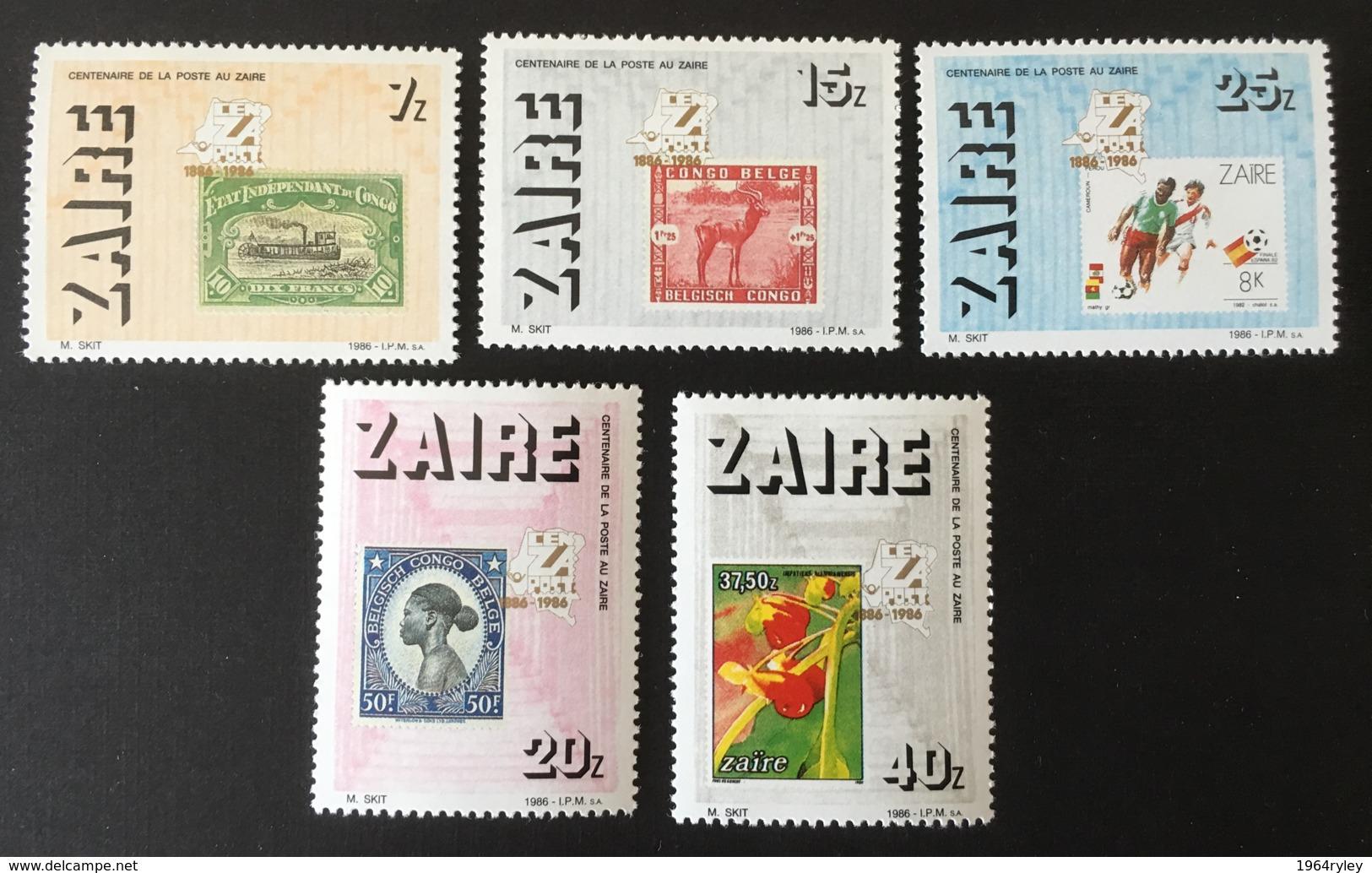 ZAIRE - MNH** - 1986 - # 933/937 - Zaïre