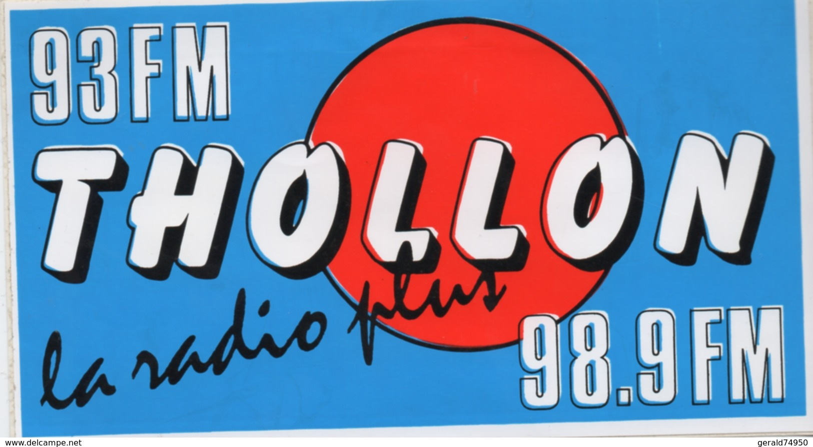 Autocollant Radio Thollon (74) - Autocollants
