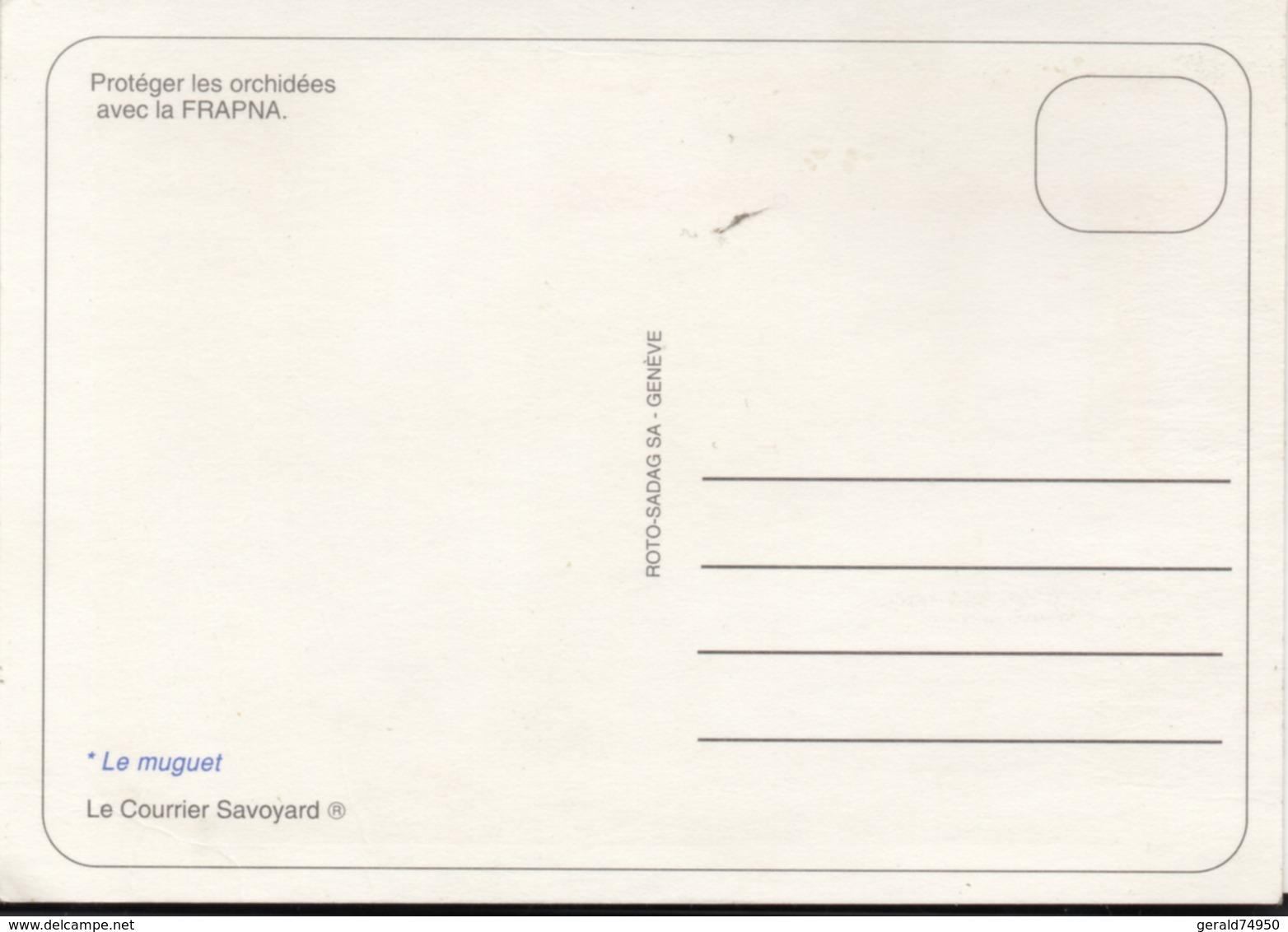 """Carte Postale Autocollante Journal """"Le Courrier Savoyard"""" (Haute-Savoie) - Français"""