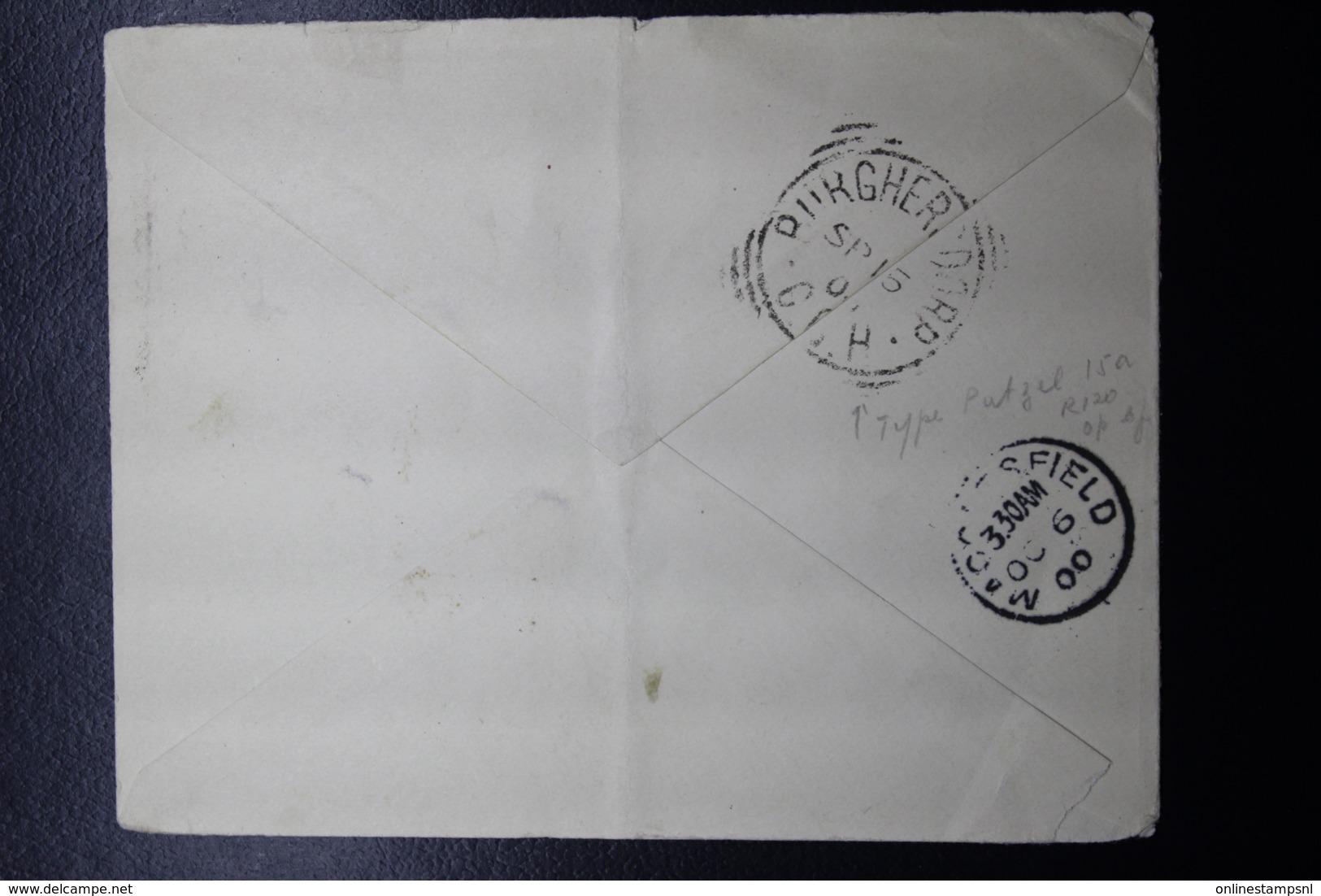 BOER WAR PERIOD  Cover BURGERSDORP -> MACCLESFIELD UK, 15-9-1901 - Sud Africa (...-1961)