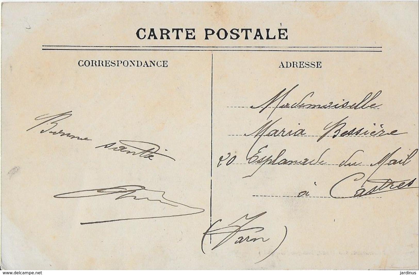 LANGON :(Gironde ) : Les Bords De La Garonne  Et Bateau à Vapeur (1912) - Langon