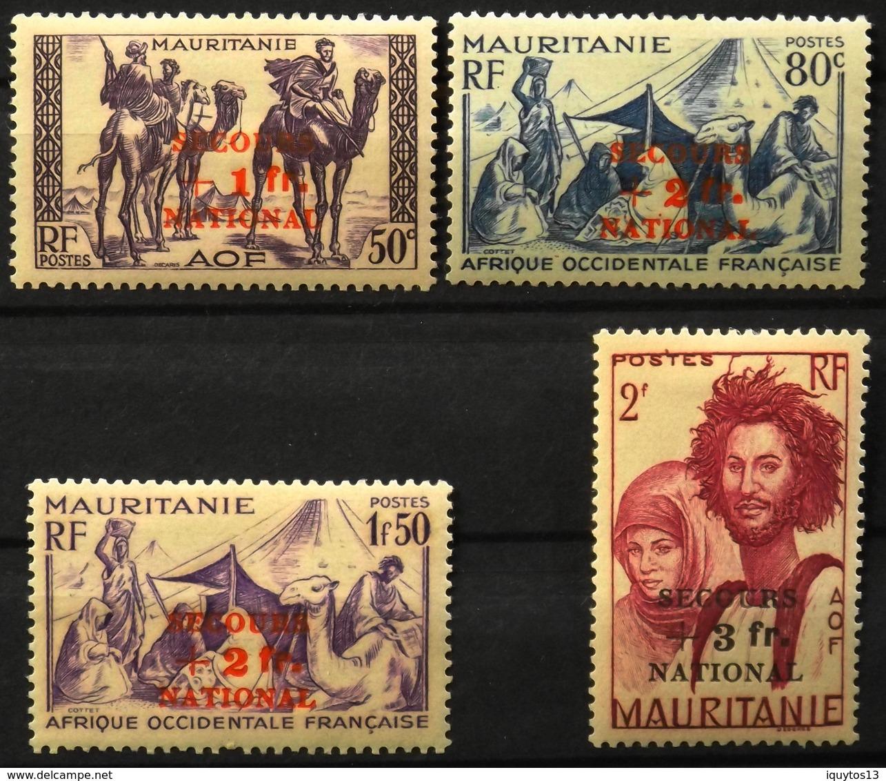 France (ex-colonies & Protectorats) > Mauritanie - Colonie Française 1941 - N°119 à 122 Neufs* - Mauritanie (1906-1944)