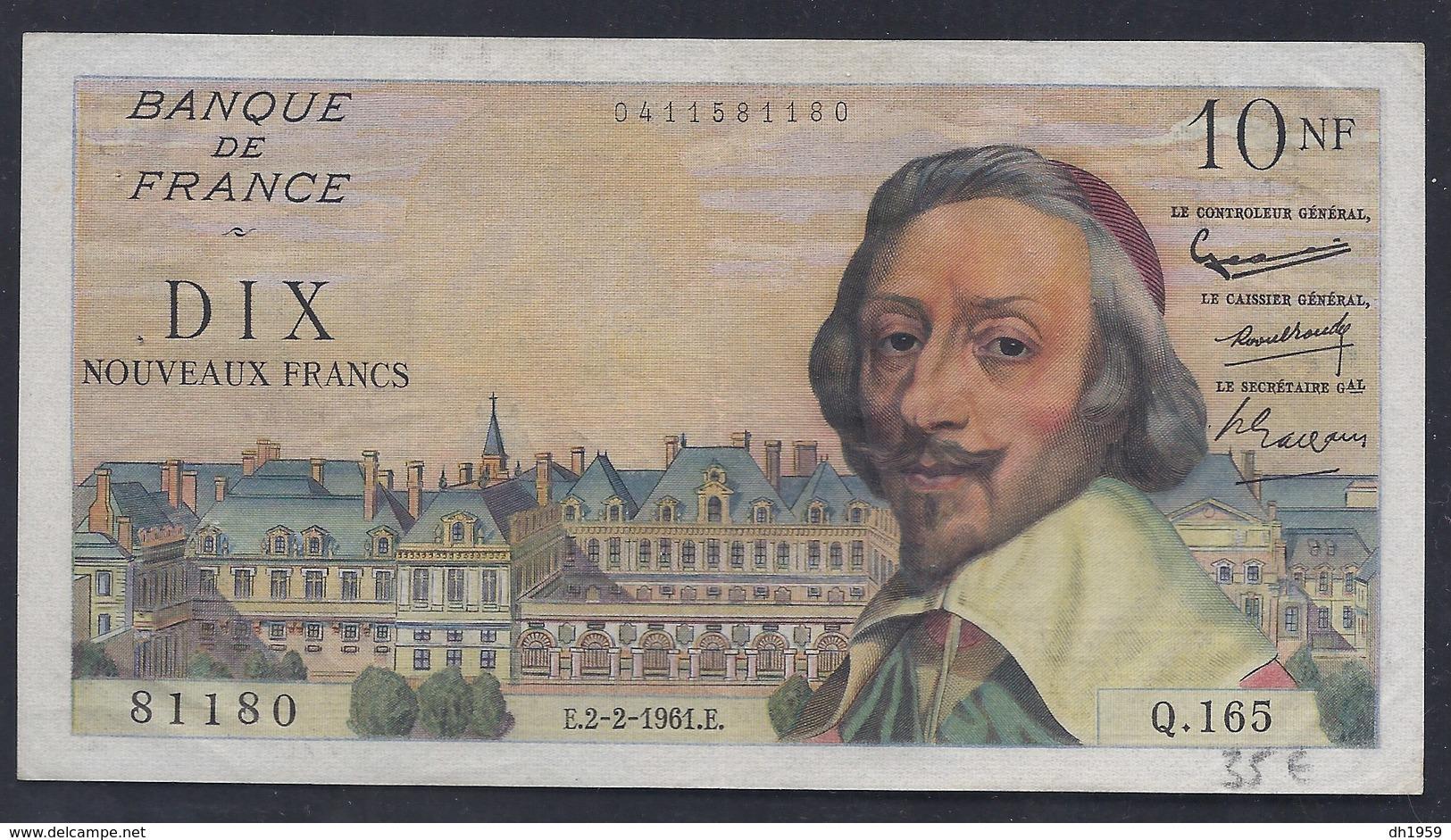 10 NOUVEAUX FRANCS DIX FRANCE BANKNOTE BILLET BANQUE GELDSCHEIN BILL - Non Classés