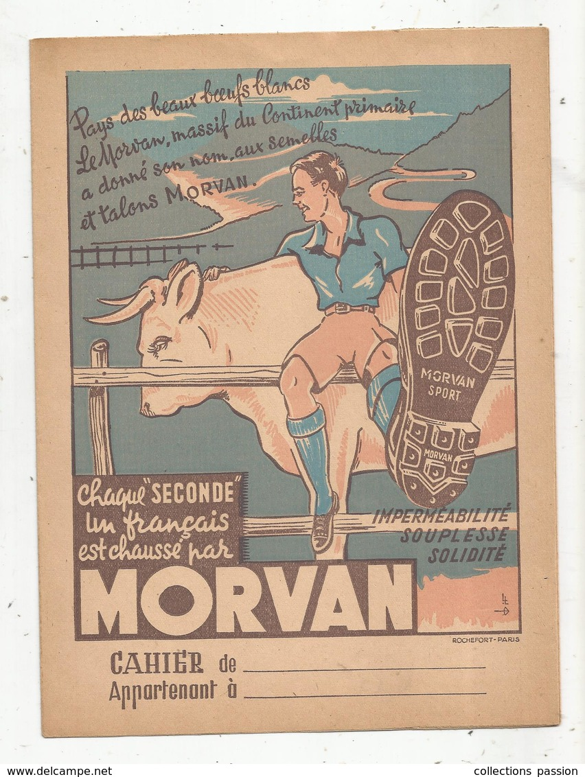 Protége Cahier , Chaussures MORVAN,  2 Scans, Frais Fr : 1.75€ - Protège-cahiers