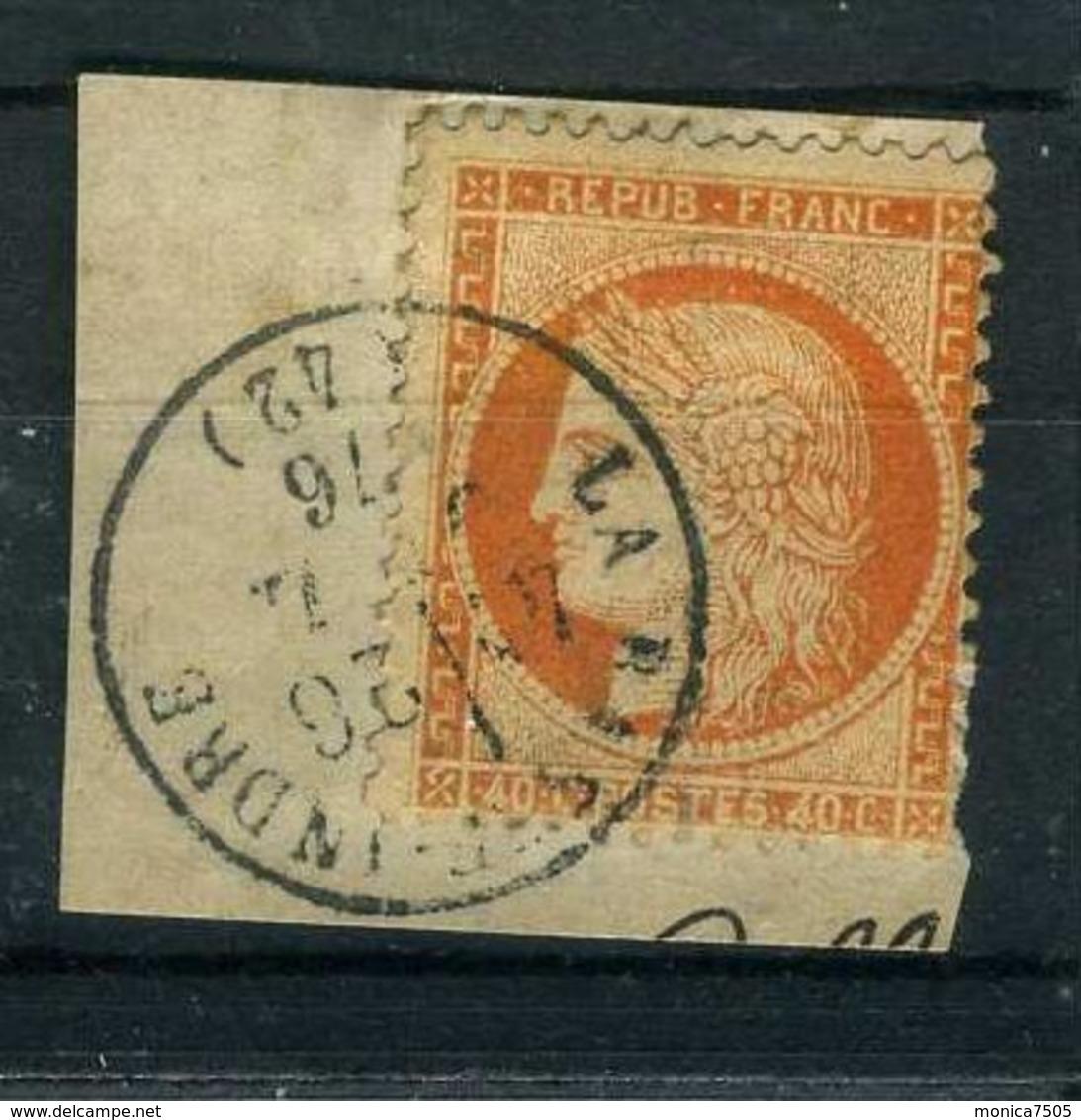 FRANCE ( POSTE )  :  Y&T  N°  38 , TIMBRE  BIEN  OBLITERE , SUR  FRAGUEMENT . - 1870 Siege Of Paris