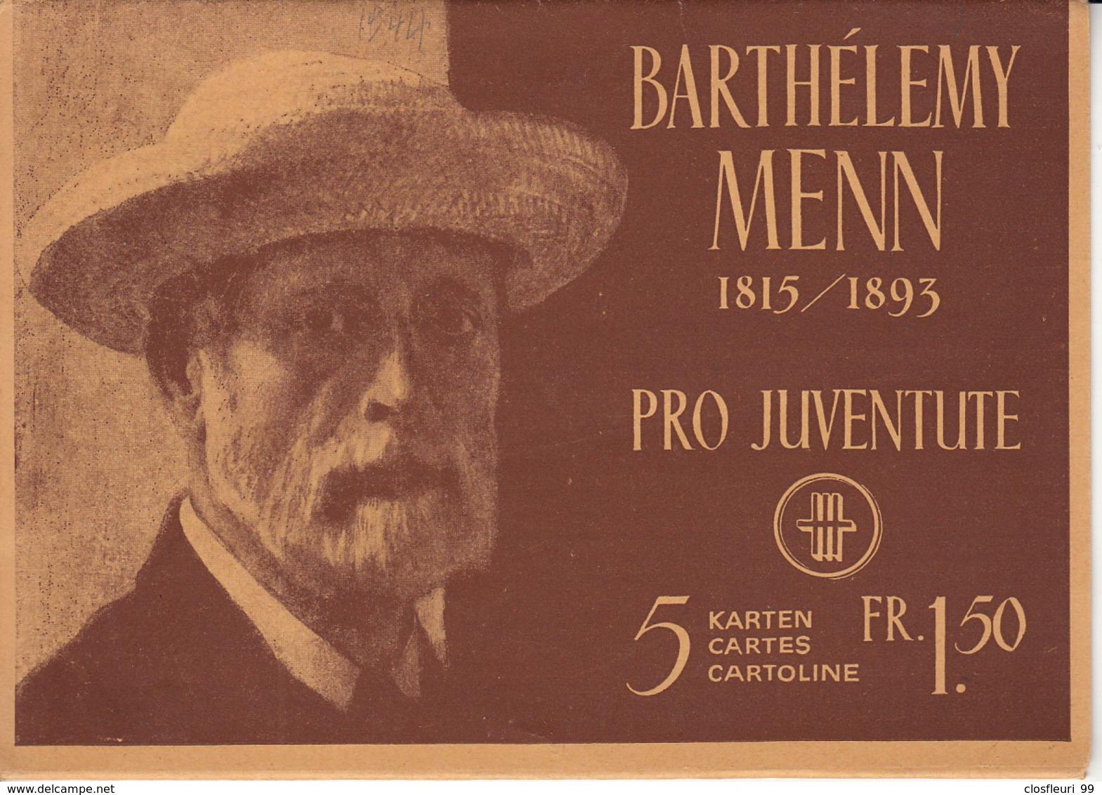 Pro Juventute / Barthélemy Menn / Feuillet Complet 1944 **, 5 Cartes Qualité Luxe - Other