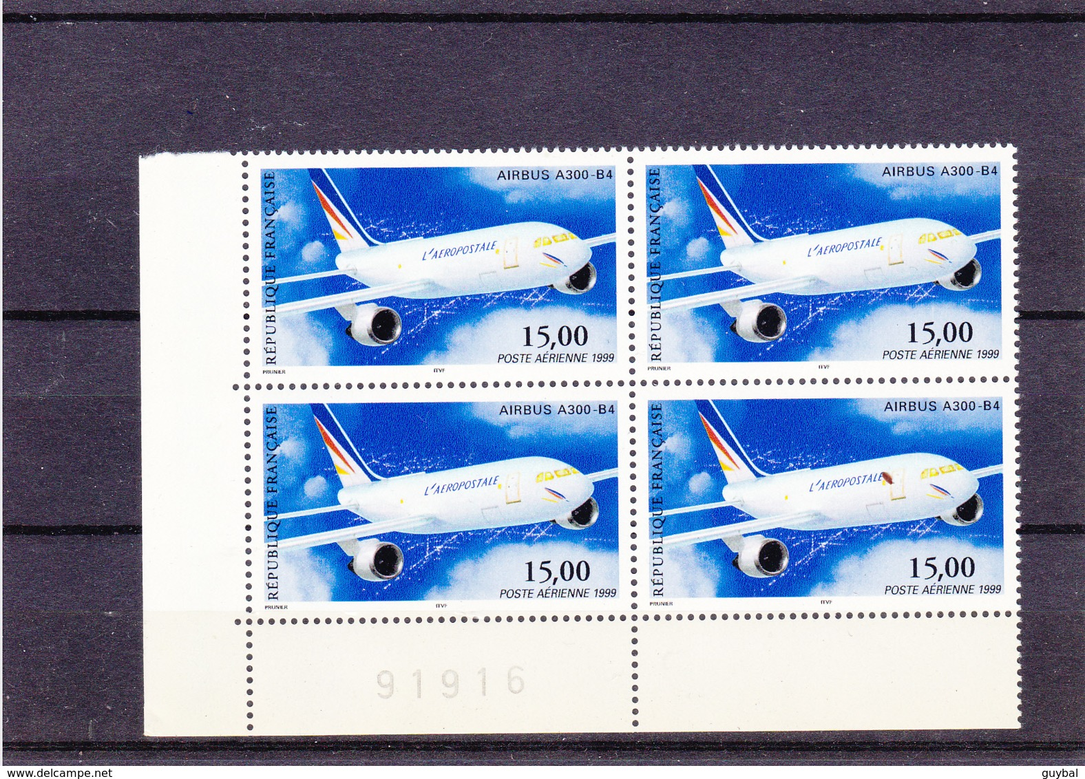 Poste Aérienne  1999 - Airbus A300-B4 -  N°63** - Bloc De 4 - Posta Aerea