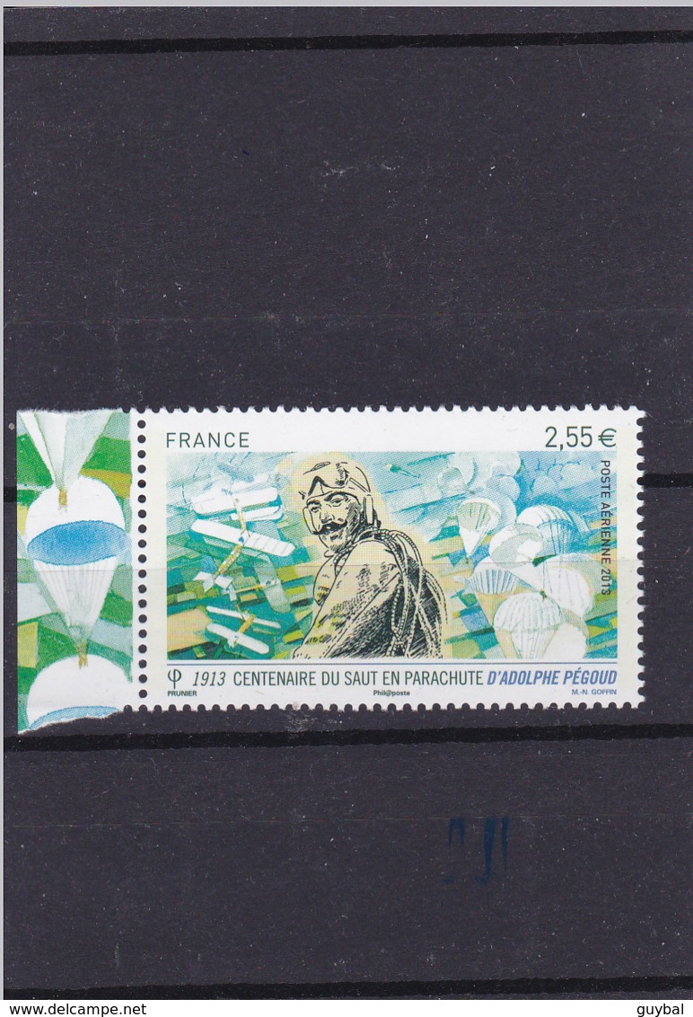 Poste Aérienne  2013 - Adolphe Pegoud  N°76 ** - BdF Gauche Illustré - Posta Aerea