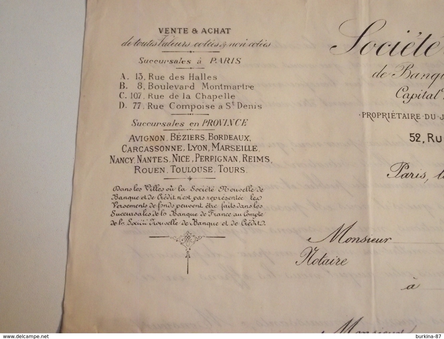 Courriers, Vente Actions COMPAGNIE De L'Union Des Gaz, 1882 - Electricité & Gaz