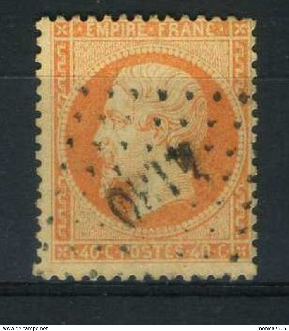 FRANCE ( POSTE )  :  Y&T  N°  23 , TIMBRE  BIEN  OBLITERE . - 1862 Napoléon III