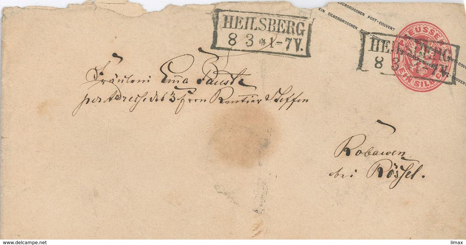 Ganzsache Entier Heilsberg - Prussia