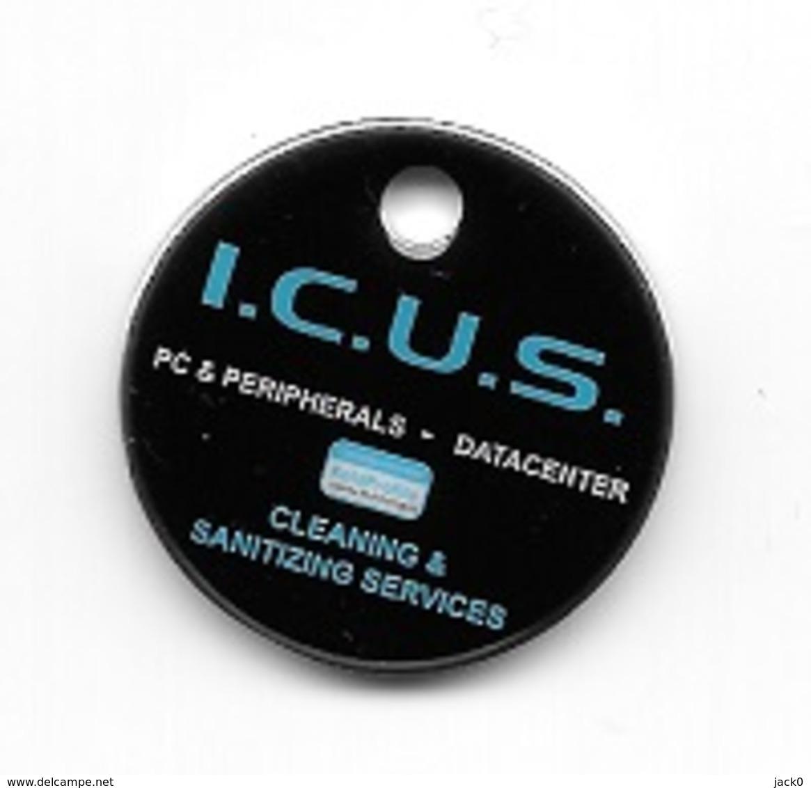 Jeton De Caddie  I.C.U.S.  PC & PERIPHERALS - DATACENTER, CLEANING & SANITIZING  SERVICES  Voir - Jetons De Caddies