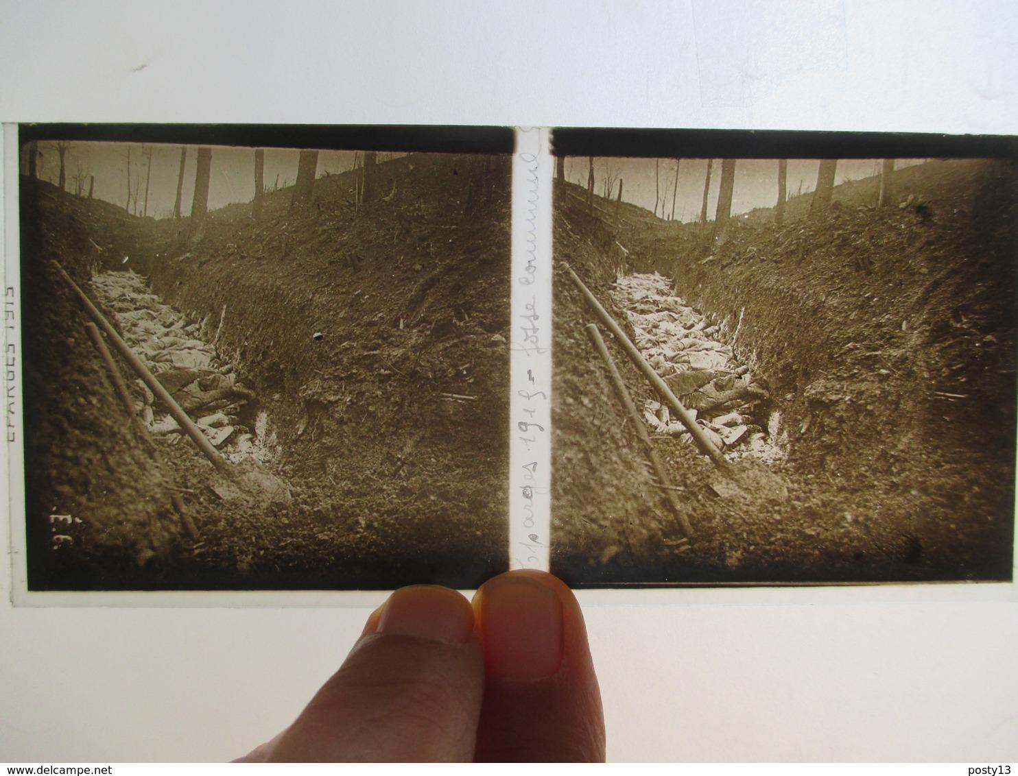LES EPARGES (55) - Plaque De Verre Stéréoscopique - Guerre 1914-18 - Fosse Commune - TBE - Plaques De Verre