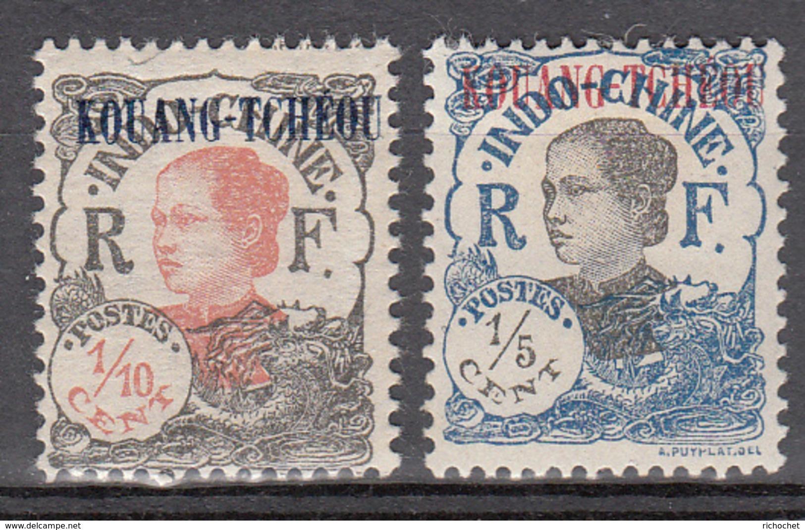 Kouang-Tcheou 52 à 53 * - Unused Stamps