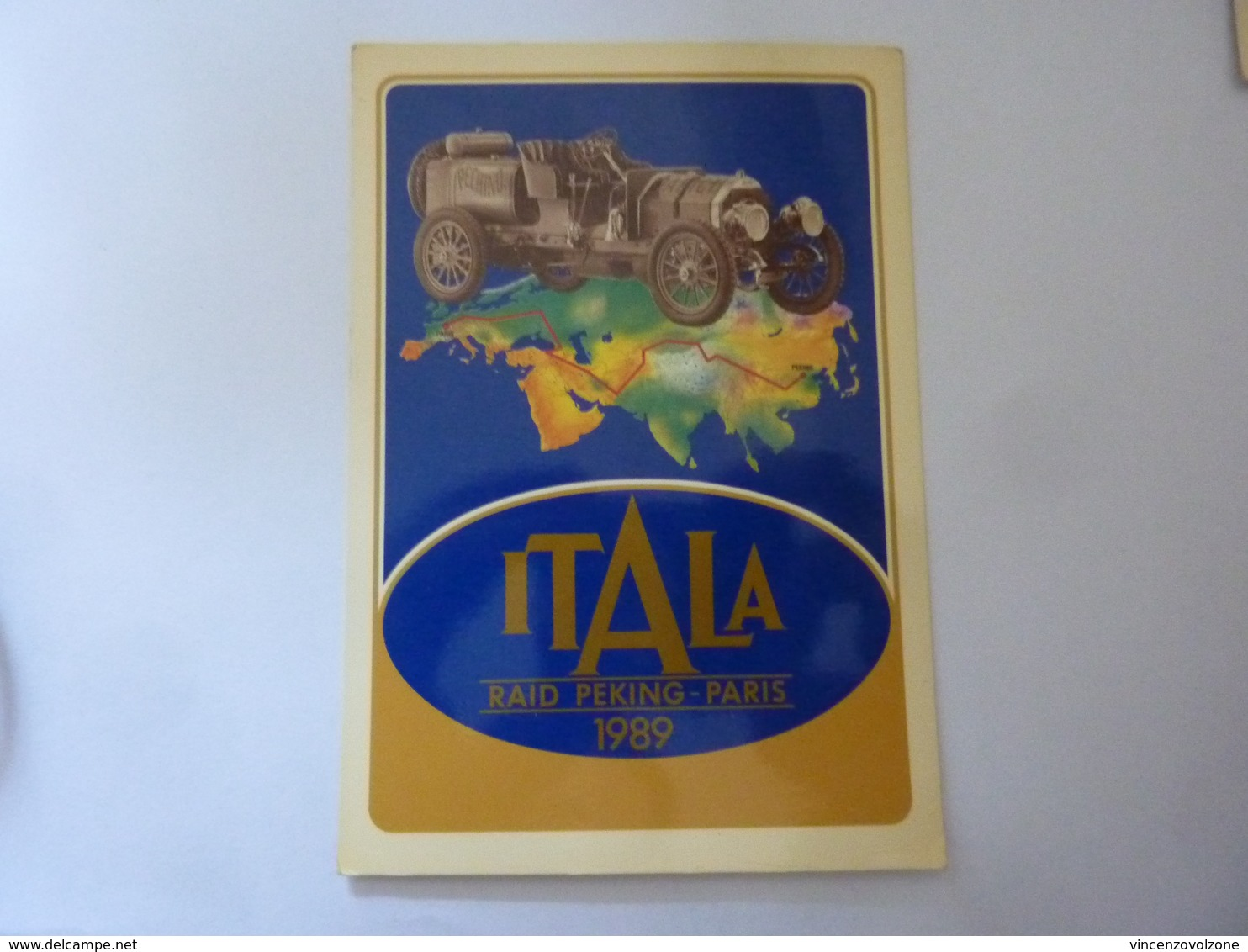 "Cartolina  Viaggiata ""ITALA RAID PEKING PARIS 1989 Saluti Dal BELGIO"" Autografi Partecipanti - Altri"